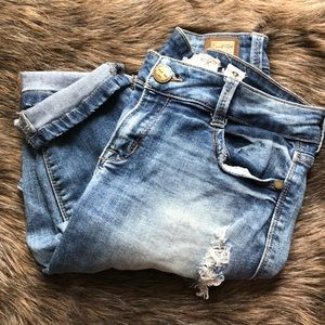 Cuffed boyfriend style jeans